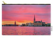 Pink Sunset Over Stockholm Carry-all Pouch