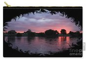 Pink Sunset Panorama With Black Framing Carry-all Pouch
