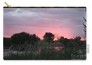 Pink Sunset With Green Riverbank Carry-all Pouch