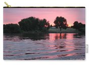 Pink Sunset With Soft Waves Carry-all Pouch