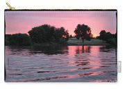Pink Sunset With Soft Waves In Black Framing Carry-all Pouch