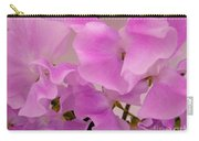 Pink Sweetpeas Carry-all Pouch