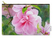 Pink Swirl Garden Carry-all Pouch by Shelley Irish