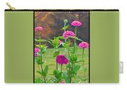 Pink Tall Zinnia's Carry-all Pouch