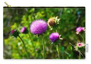 Pink Thistle Study 1 Carry-all Pouch