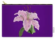 Pink Tiger Lily Blossom Carry-all Pouch