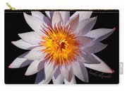 Pink Tipped Water Lily Transparent Carry-all Pouch