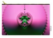 Pink Topaz And Emerald Green Necklace Fractal Carry-all Pouch