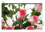 Pink Trimmed Roses Carry-all Pouch
