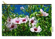 Pink Trumpet Flowers In Pilgrim Place In Claremont-california Carry-all Pouch