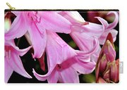 Pink Trumpet Lilies Carry-all Pouch