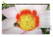 Pink Tulip Flower Orange Art Prints Honey Bee Baslee Troutman Carry-all Pouch