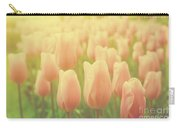 Pink Tulip Flowers In The Garden On Sunny Day In Spring Carry-all Pouch