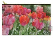 Pink Tulip Macro Carry-all Pouch