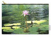 Pink Water Lily Pad Carry-all Pouch
