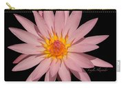 Pink Water Lily Transparent Carry-all Pouch