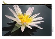 Pink Water Lily With Dragonfly Carry-all Pouch