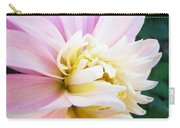 Pink White Dahlia Flower Soft Pastels Art Print Canvas Baslee Troutman Carry-all Pouch