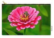 Pink Zinnia Bee Carry-all Pouch
