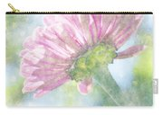 Pink Zinnia On Bokeh Background Carry-all Pouch