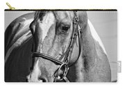 Pinto Pony Portrait Black And White Carry-all Pouch