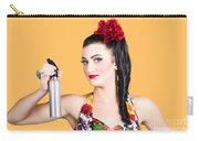 Pinup Woman Holding A Cleaning Spray Bottle Carry-all Pouch
