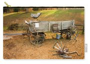Pioneer Wagon And Broken Wheel Carry-all Pouch