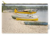 Piper Super Cub Floatplane Near Pond In Maine Canvas Poster Print Carry-all Pouch
