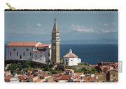 Piran Slovenia With St George's Cathedral Belfry And Baptistery  Carry-all Pouch