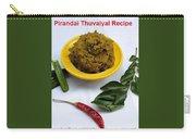 Pirandai Thuvaiyal Recipe Carry-all Pouch