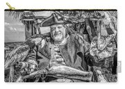 Pirate Captain And Parrots Black And White Carry-all Pouch