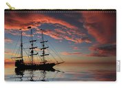 Pirate Ship At Sunset Carry-all Pouch