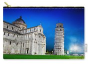 Pisa Cathedral With The Leaning Tower Of Pisa, Tuscany, Italy At Night Carry-all Pouch