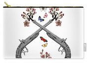 Pistols Wit Flowers And Butterflies Carry-all Pouch