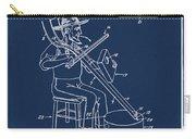 Pitch Fork Fiddle And Drum Patent 1936 - Blue Carry-all Pouch