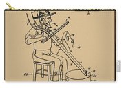Pitch Fork Fiddle And Drum Patent 1936 - Sepia Carry-all Pouch