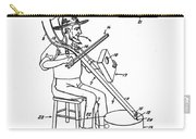 Pitch Fork Fiddle And Drum Patent 1936 - White Carry-all Pouch