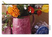 Pitcher Of Flowers Still Life Carry-all Pouch