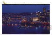 Pittsburgh Skyline At Night Christmas Time Carry-all Pouch