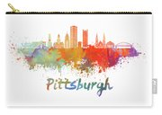 Pittsburgh V2 Skyline In Watercolor Carry-all Pouch