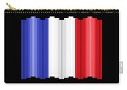 Pixilated Tricolore Carry-all Pouch