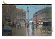 Place De L Opera In Paris Carry-all Pouch by Georges Stein
