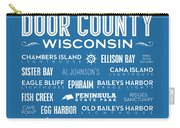 Places Of Door County On Blue Carry-all Pouch