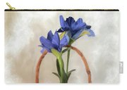 Plain Blue Iris Carry-all Pouch