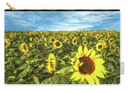 Plains Sunflowers Carry-all Pouch by Scott Cordell