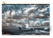 Plane In Storm Carry-all Pouch