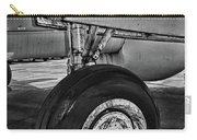 Plane - Landing Gear In Black And White Carry-all Pouch