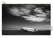 Plane Wreck Black And White Iceland Carry-all Pouch