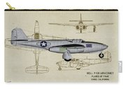 Planes Of Fame A-59 Airacomet - Profile Carry-all Pouch