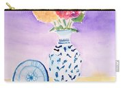 Plate And Flowers Carry-all Pouch